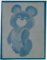 MISHA L'ourson Mascotte Des XXII° Jeux Olympiques D'été De Moscou En 1980 Sur Une Plaque Métallique - Olympische Spiele