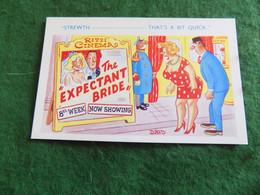 SEASIDE HUMOUR: The Expectant Bride Cinema Davo Comicard - Humor