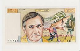 LINO VENTURA. Photo (10 X 15) Repro Du Billet De 100 Francs Illustré Banque Perce Neige (Louis Soleillant) - Reproductions