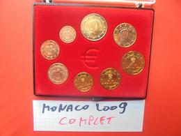 START 1 EURO ! MONACO SERIE COMPLETE 2009 RARE !  En UNC - Monaco