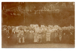 17  SAINT-GEORGES-DU-BOIS  -  Château De POLEON  -  Concours De Coiffes - 1911 - Carte-Photo - Altri Comuni