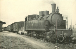 Thème Train Machine Tender E 416 Réseau Breton 1m  Rosporden  Locomotives De L'Ouest  CP Ed. H.M.P. N°607  Vapeur - Treni
