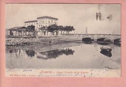 OLD  POSTCARD -  ITALY - LIVORNO -  BAGNI SCOGLIO DELLA REGINA - Livorno