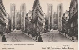 N°4721 R -carte Stéréoscopique Bruxelles -église Sainte Gudule- - Estereoscópicas