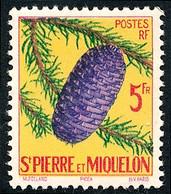 ST-PIERRE ET MIQUELON 1958 - Yv. 359 *   Cote= 4,80 EUR - Arbre Picea  ..Réf.SPM11827 - Unused Stamps