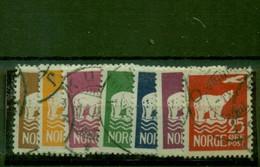 Norwegen, Nr. 109 - 115 Gestempelt - Used Stamps