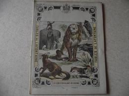 Protège Cahier, Fin XIX,  FABLE De La Fontaine, Le LION S'en Allant En Guerre - Protège-cahiers