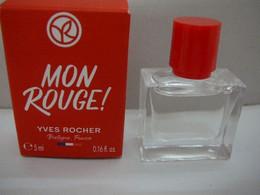 """YVES ROCHER : """" MON ROUGE"""" MINI  EDP 5 ML  NEUVE :LIRE Et VOIR !! - Miniaturen Flesjes Dame (met Doos)"""