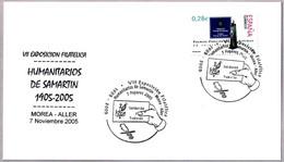 Matasellos CENTENARIO HUMANITARIOS DE SAMARTIN. Morea-Aller, Asturias, 2005 - 1931-Aujourd'hui: II. République - ....Juan Carlos I