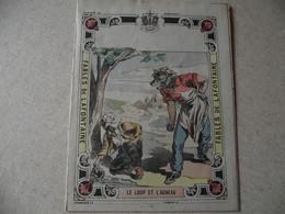Protège Cahier, Fin XIX,  FABLE De La Fontaine, Le LOUP ET L'AGNEAU - Protège-cahiers