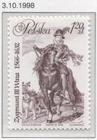 Poland 1998 Mi 3730 Sigismund III Vasa -  King Of Poland, Grand Duke Of Lithuania, Horse MNH** - History