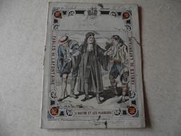 Protège Cahier, Fin XIX,  FABLE De La Fontaine, L' HUITRE ET LES PLAIDEURS - Protège-cahiers