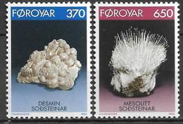 1992 Färöer  Mi. 237-8 **MNH   Mineralien. - Féroé (Iles)
