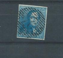 N° 2 BLEU LAITEUX OBLITERE P 76 LOUVAIN - 1849 Epaulettes