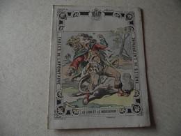 Protège Cahier, Fin XIX,  FABLE De La Fontaine, LE  LION ET LE MOUCHERON - Protège-cahiers