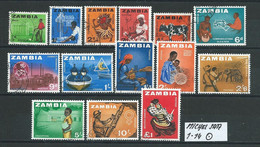ZAMBIA MICHEL SATZ 1 -14 Gestempelt Siehe Scan - Zambie (1965-...)