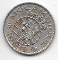 *mozambique 10 Escudo 1974 Km 879b  Xf - Mozambique
