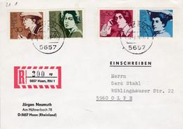 """Eingedruckter R-Zettel,  5657 Haan, Rhl 1, Nr. 300  Ub """" Xy """", Jürgen Neumuth - [7] Federal Republic"""