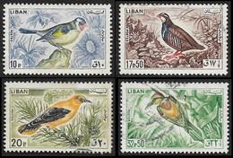 LIBAN  1965 -  YT  251 - 253 - 254(donné) - 255  -  Oiseaux - Lebanon