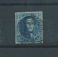 N° 4  OBLITERE P 62 HUY - 1849-1850 Medaillons (3/5)