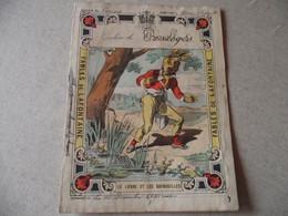 Protège Cahier, Fin XIX,  FABLE De La Fontaine, LE  LIEVRE ET Les GRENOUILLES - Protège-cahiers