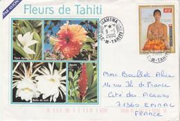 Polynésie Yvert 604 Tableau De Nu Sorgniard Mahina 9/5/2000 Lettre Illustrée Recto Verso à Epinac Saône Et Loire - French Polynesia