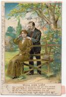 DC3831 - Motiv: Paare - Meine Erste Liebe, Gold - Präge-Karte - Parejas