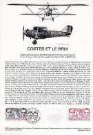 """"""" COSTES ET LE BRIX """" Sur Document Philatélique Officiel De 1981. N° YT PA 55. Parfait état. DPO - Postdokumente"""