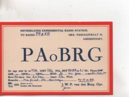 Cpa.Cartes QSL.PAoBRG.1950.Amersfoort.Netherlands.to PAOKA - Radio Amatoriale