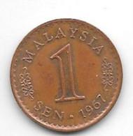 *Malaysia 1 Sen 1967  Km 1 Unc - Malaysia