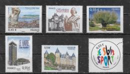 FRANCE - Yvert N° 4257-4258-4259-4270-4281-4283 ** - France