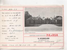 Cpa.Cartes QSL.PAoBSA.1951.Netherlands.Castle Twickel Delden - Radio Amatoriale