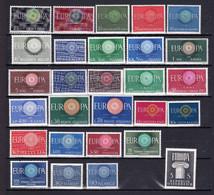 28 Postfrisse CEPT  EUROPA-zegels 1960 - Europa-CEPT