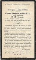 Doodsprentje  *  Gildemyn Eugénie  (° Gent 1864 / + 1924)  X Myncke Cyrille - Religion & Esotérisme