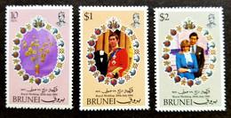 Brunei Darussalam Royal Wedding 1981 Charles & Princess Diana (stamp) MNH - Brunei (1984-...)