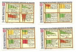 1977 - 128/31 Bandiere - Malte (Ordre De)