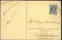 Postkaart: HOOGLEDE 17.7.1929 - Marcophilie