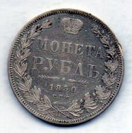 RUSSIA, 1 Ruble, Silver, Year 1850-CΠB-ΠA, KM #168.1 - Rusland