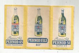 Paquet De Feuilles à Cigarette , PERNOD FILS , PERNOD 51 , Pastis N° 1 , PERNOD 45 , PERNOD FILS 40 °, 2 Scans - Sonstige