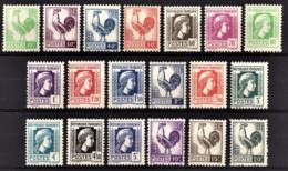 FRANCE 1944 - SERIE Y.T. N° 630 A  648 - 19 TP NEUFS** - France