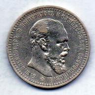 RUSSIA, 1 Ruble, Silver, Year 1892, KM #Y46 - Rusland