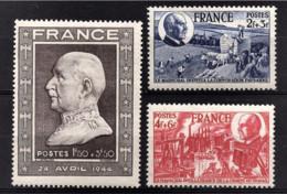 FRANCE 1944 - LOT 3 TP NEUFS**  Y.T. N° 606 / 607 / 608 - - France