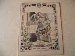Protège Cahier, Fin XIX,  FABLE De La Fontaine, LES DEUX PIGEONS - Protège-cahiers