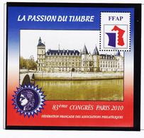 VaI005 FFAP N° 4 PARIS 2010 Graveurs TARDY-CATELIN Bloc Feuillet 83ème Congrès LA CONCIERGERIE La Passion Du Timbre - FFAP