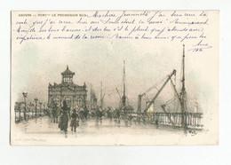 Antwerpen Le Port Le Promenoir Sud PK Anvers CPA 1900 - Antwerpen