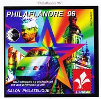 VaI034 CNEP Y.T N° 22 LILLE Candidate J.O 2004 Salon Philatélique PHILAFLANDRE 96 Par ANDREOTTO Feuillet C.N.E.P N**MNH - CNEP