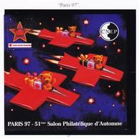 VaI037 CNEP Y.T N° 25 Cote 38€ PARIS 97 Croix-Rouge 51ème Salon Philatélique 1997 Graveur VALAT Feuillet C.N.E.P N** MNH - CNEP