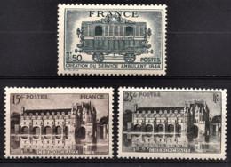 FRANCE 1944 - LOT 3 TP NEUFS**  Y.T. N° 609 / 610 / 611 - France