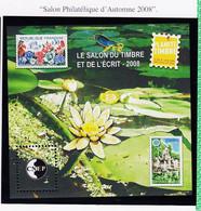 VaI063 CNEP Y.T N° 51 ( Cote 13€ ) PARIS Parc Floral 14-22 Juin 2008 SALON Du TIMBRE Et De L'ECRIT Bloc C.N.E.P N** MNH - CNEP