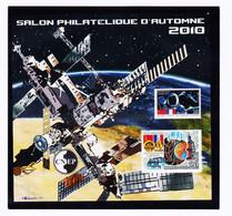 VaI072 Rare Cnep NON-DENTELE Y.T N° 57a PARIS Salon Philatélique Automne 2010 ESPACE Par COUSIN Feuillet C.N.E.P N** MNH - CNEP